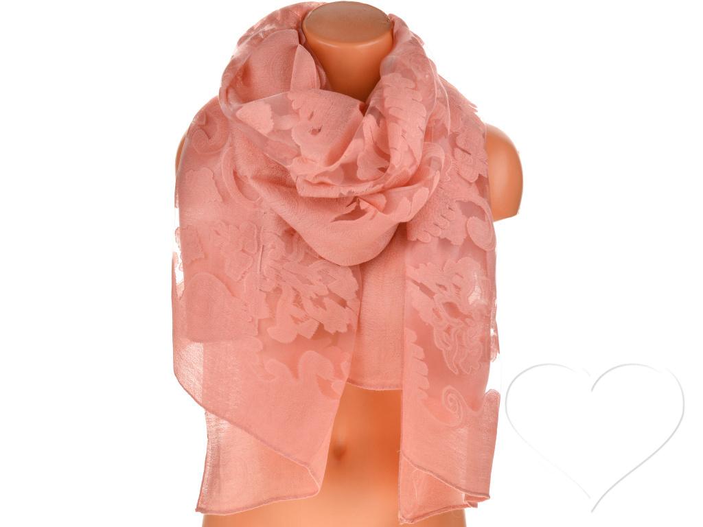 Női egyszínű kendő - fáradt rózsaszín  5c3dd00052