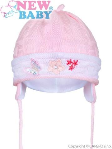 Kötött gyermek sapka New Baby világos rózsaszín 3a23287894