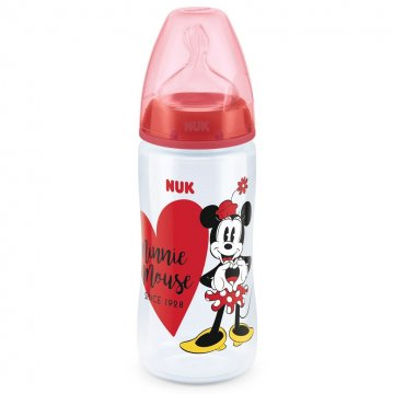 Baba cumisüveg NUK Disney Mickey 300ml Minnie piros