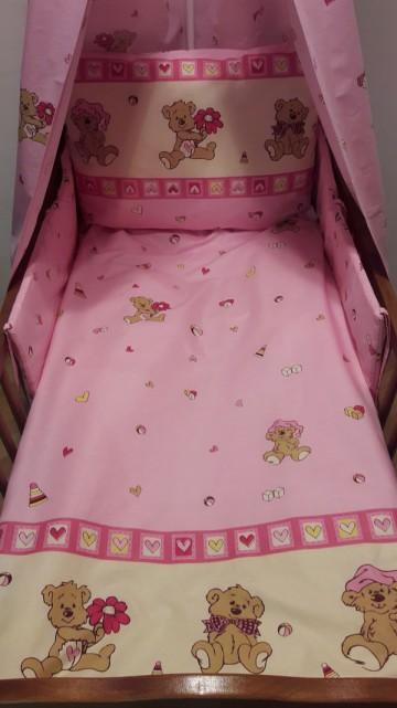Ágyneműhuzat Maci rózsaszín fed9ec4773