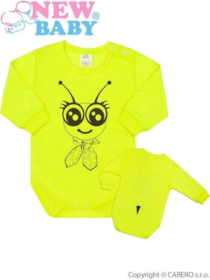Csecsemő body hossú ujj New Baby Állat Méhecske neon  4fc66118a2