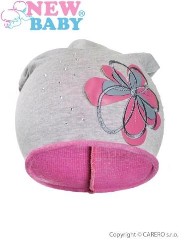 Gyerek őszi sapka New Baby virág rózsaszín 2040f48d4e